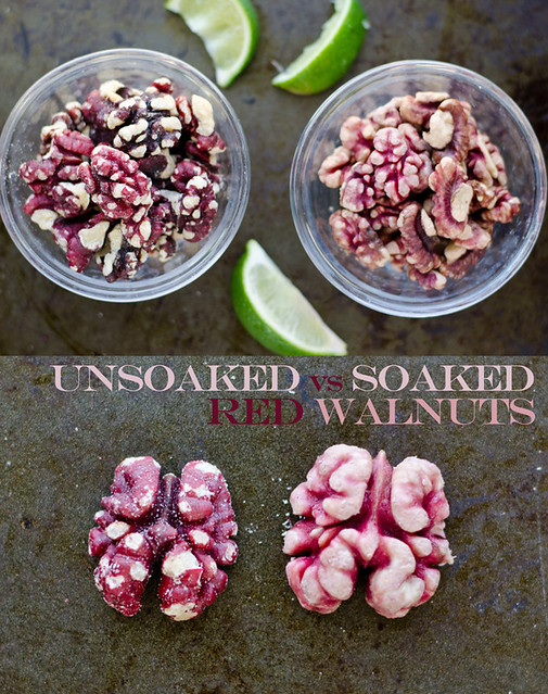 Soaked Red Walnuts by Mary Banducci