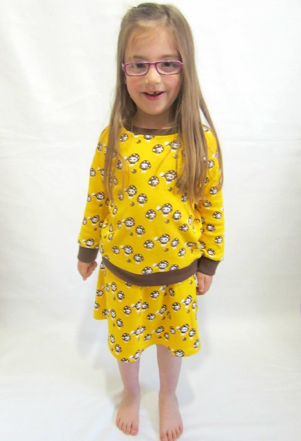 yellow mushroom skirt and top 2