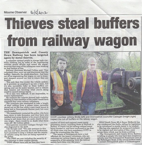 stolen railway buffers mourne obs by CadoganEnright