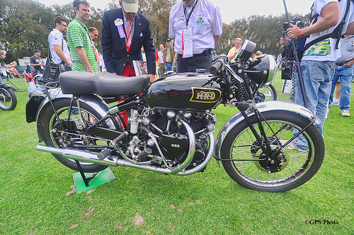 1948 HRD Vincent Black Shadow at Amelia Island 2012