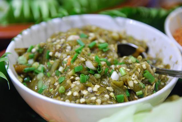 Nam Prik Noom eggplant dip - Songkran Festival Gala Dinner at Raming Lodge Hotel