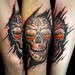 Hellfire from Anne Stoke® tattoo by Miguel Angel tattoo