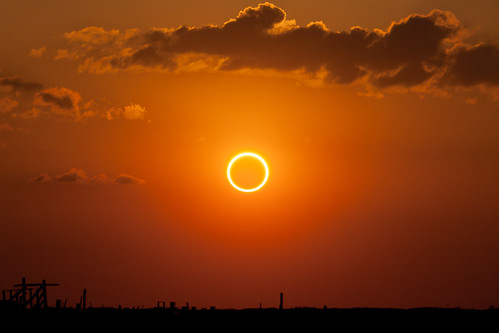 Perfect Ring of Fire - Annular Solar Eclipse