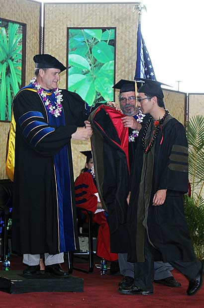 <p>UH Hilo School of Pharmacy's commencement ceremony on May 12 at the Edith Kanakaʻole Multi-Purpose Stadium</p>