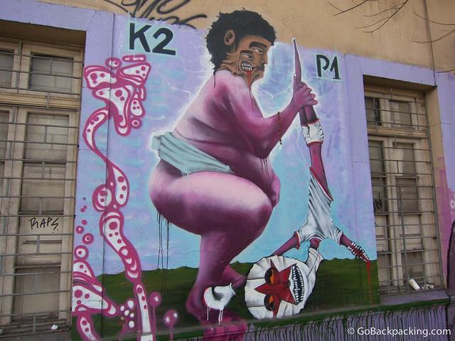 Graffiti in Bellavista