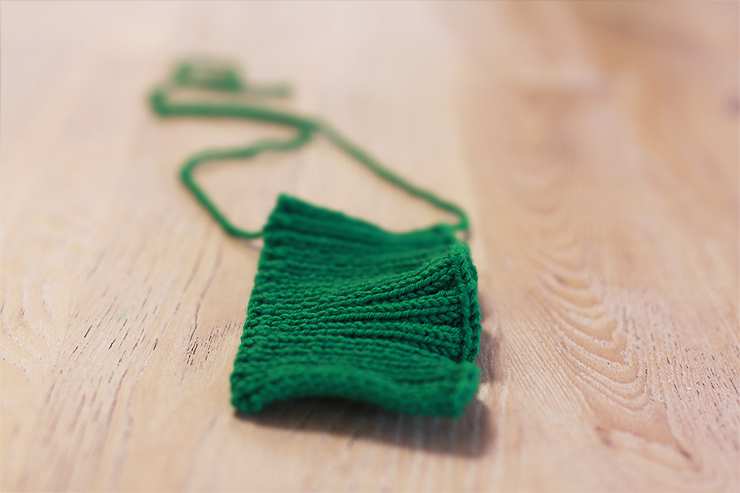 Green Knitted Tab