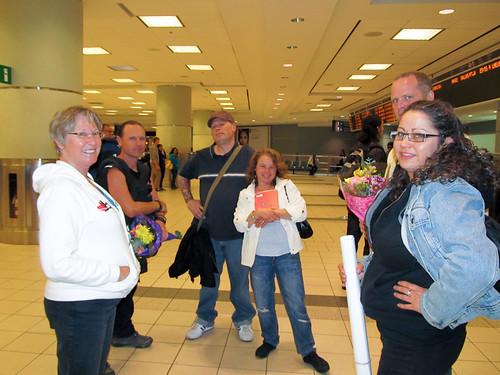 Heather, Chris, Jeremy, Sara, Simon and Hope :). YAY!!! Toronto Airport 10MAY12