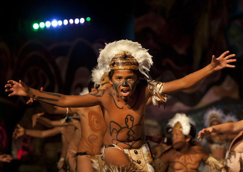 Dances During Tapati Festival In Hanga Roa, Easter Island, Chile