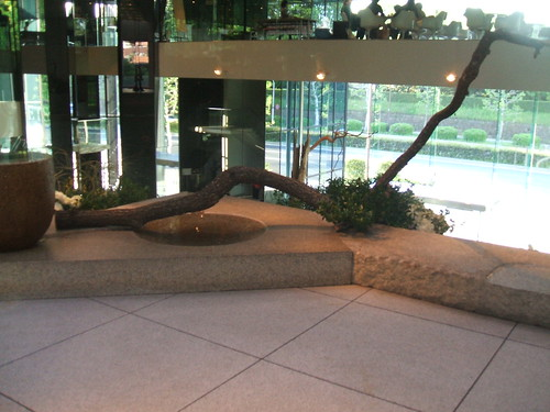 Large arrangement inside Sogetsu Center by Koshy Molly