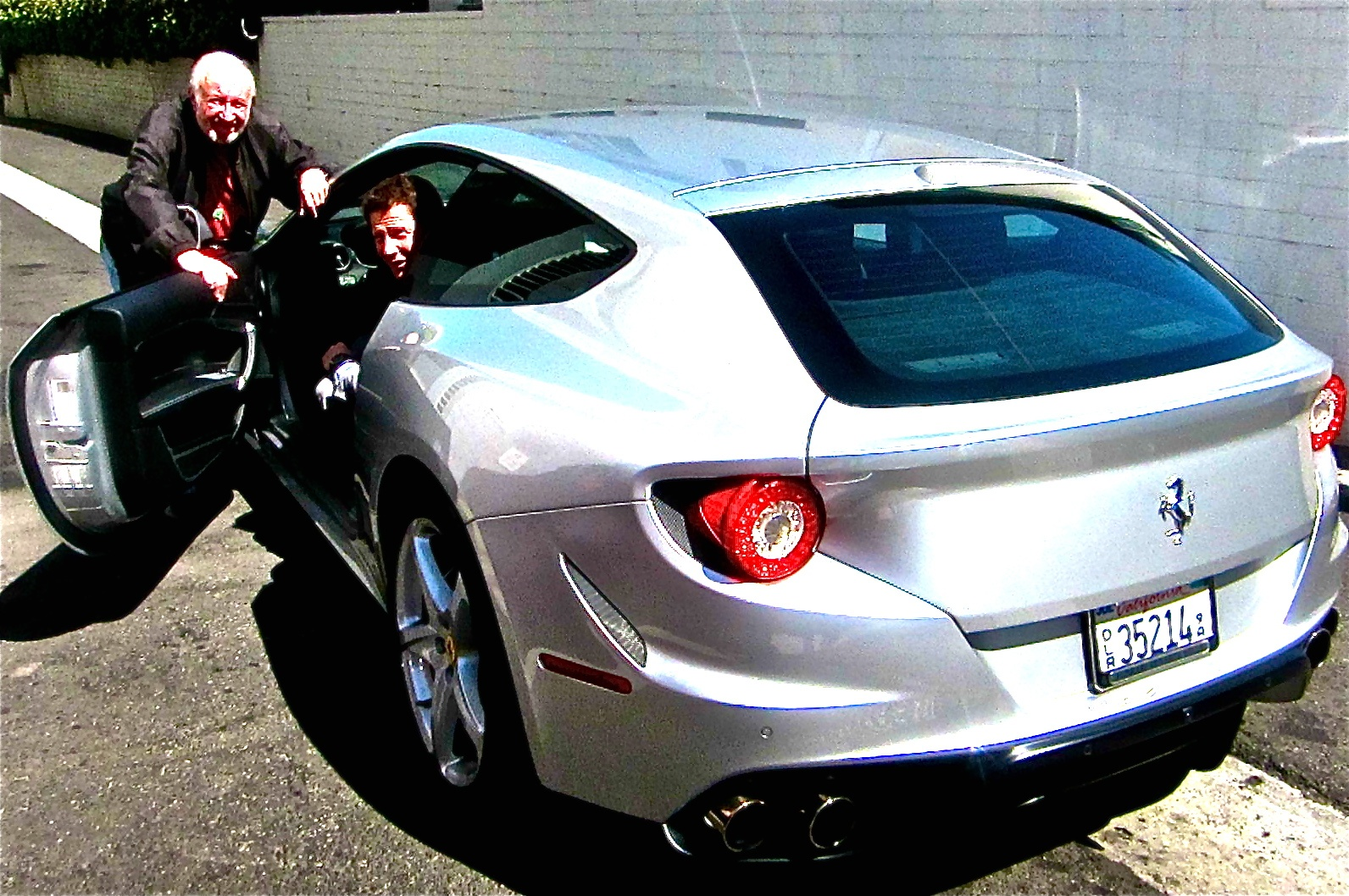 Jay with Giacomo in new Ferrari FF