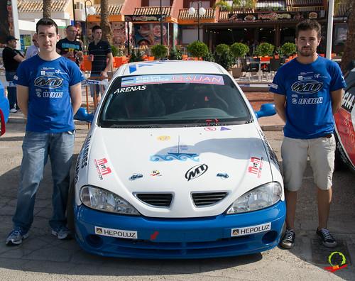 Iván Arenas y Jose Antonio Saura, I Rallyesprint Costa Calida.