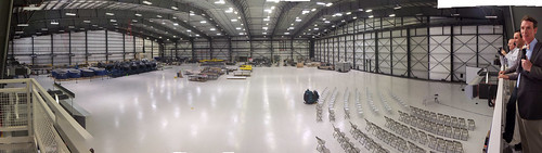 Hangar that will eventually contain one WhiteKnightTwo and two SpaceShipTwos under construction