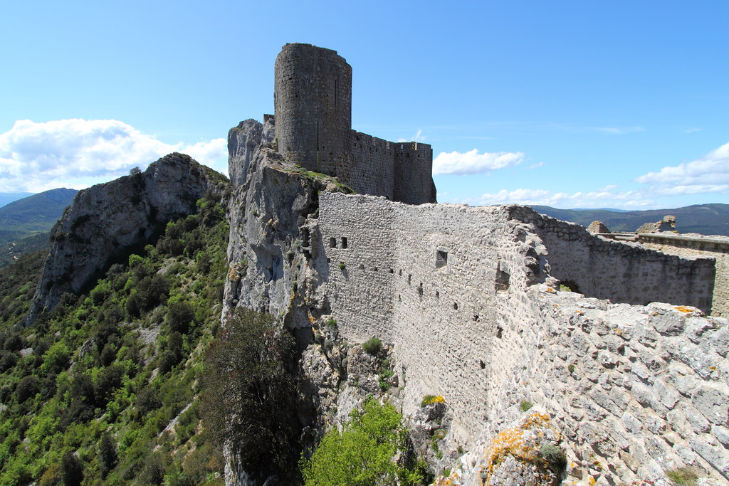 Muralla Peyrepertuse, Aude