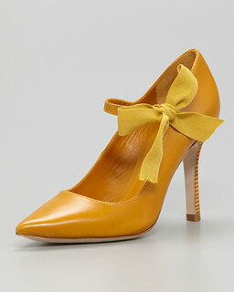 Tory Burch Beverly Mary Jane Ribbon Pump NM Retail $325 on sale for $217