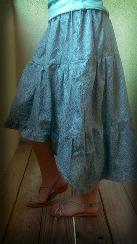 tiered maxi skirt by craftyozgirl