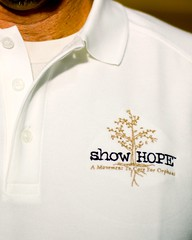 Show Hope golf polo detail