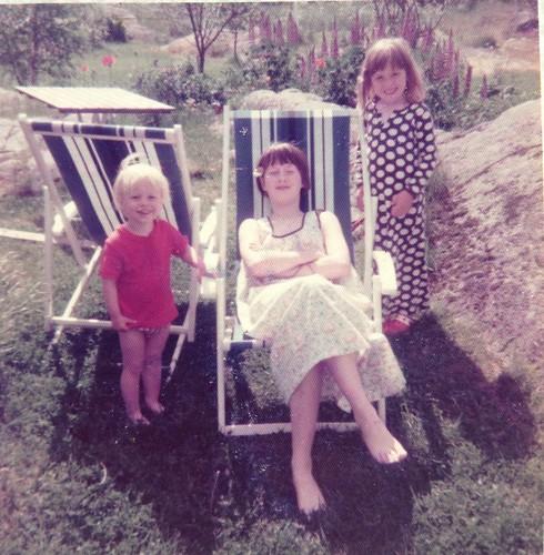 Matti, Anna och jag i Öregrund 14 juni 1975