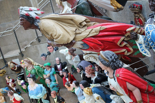 Figurehead collection at the Cutty Sark