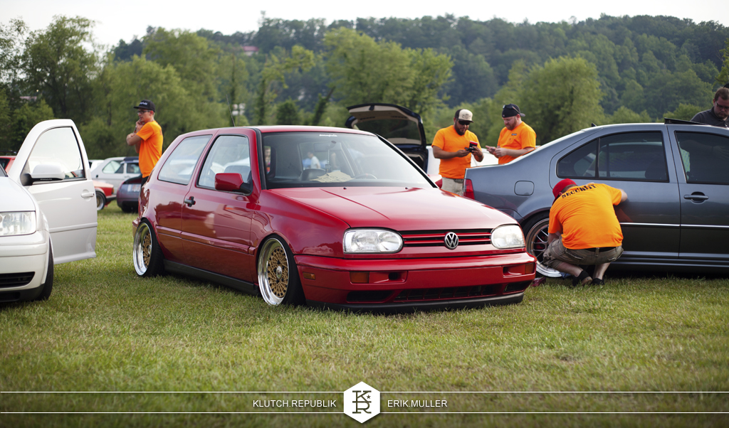 red mk3 vw gti at southern worthersee 2012
