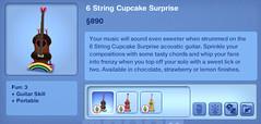 6 String Cupcake Surprise