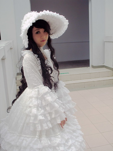 white gothic victorian dress