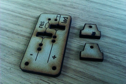 wooden circuit board bits