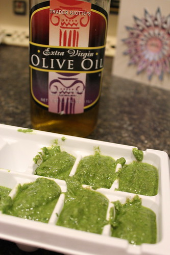 20120607. Freezing pesto!