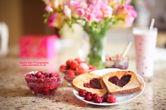 Raspberry Jam Hearts on Toast