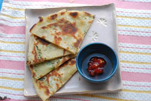 scallion & cilantro pancakes