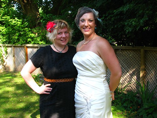 the bride & I