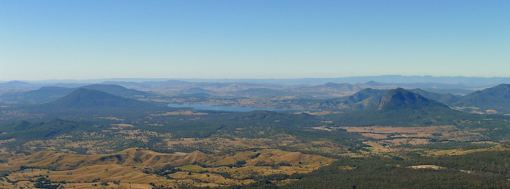 View east from Mt Cordeaux Lookout