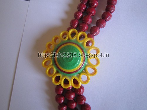 Paper Beads and Quilling Brooch Necklace & Studs (FAH01225) (6) by fah2305