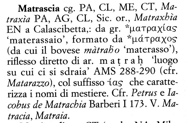 Matrascia Derivation