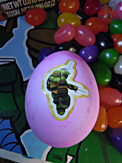 "MasDudley's Easter :: Nickelodeon ""TEENAGE MUTANT NINJA TURTLES"" EASTER EGG DECORATING KIT x // .. Raphael sticker (( 2014 ))"