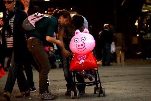 Con Peppa Pig