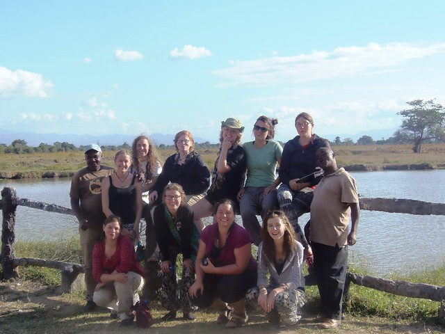 Guests having photo moment at the Hippo Pool