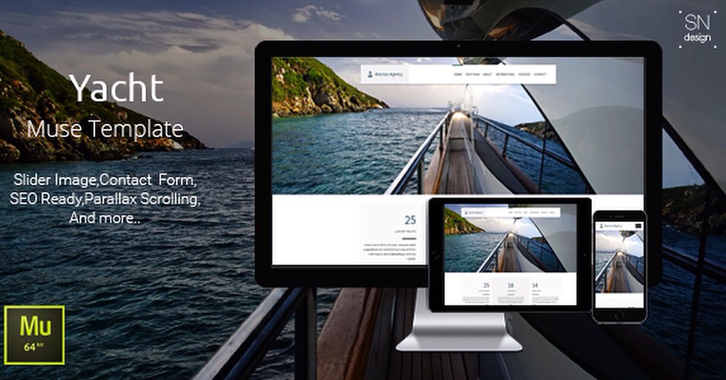 Yacht Agency Muse Template https://www x5tuts com/download… | Flickr