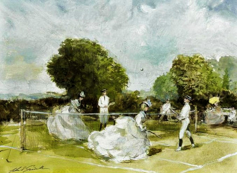A Game of Tennis by John Strickland Goodall