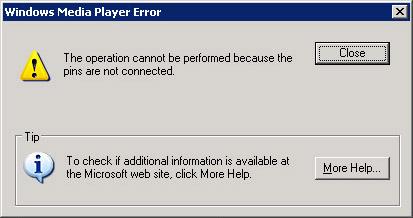 stupid error message