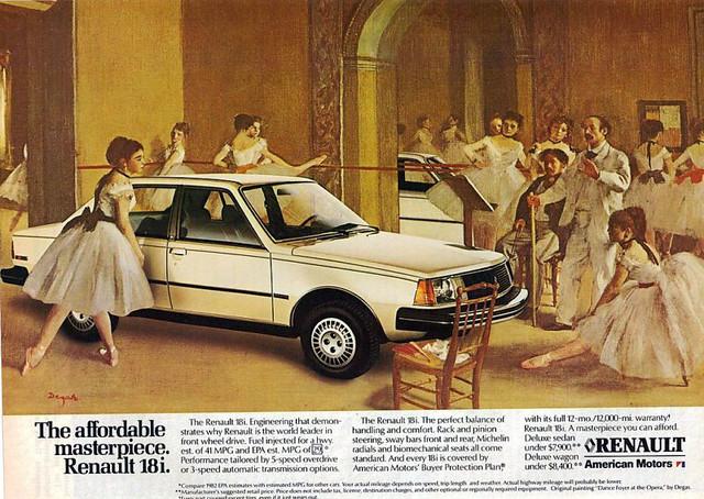 1982 Renault/AMC 18i ad