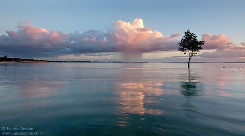 Rain passing over Darwin