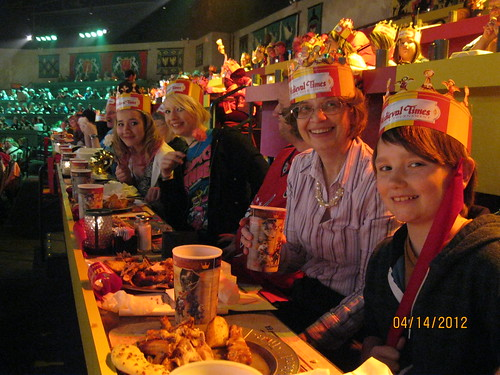 Medieval Times - Part of the crew, minus grandpa, J and me