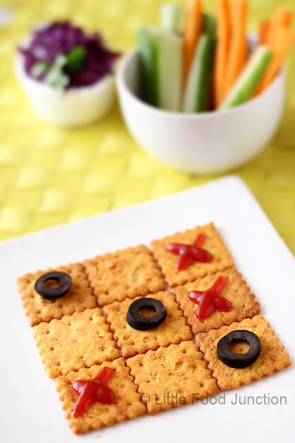 Little food junction april 2012 readymade crackers topped with sliced olives forumfinder Images