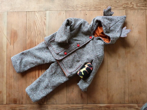 Toddler Travelling Suit, Tweed & Neon Leopard Print