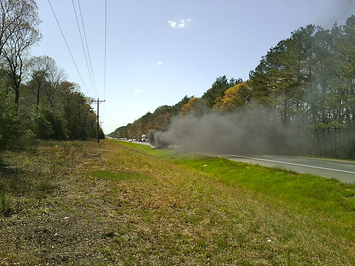 fire smoke carfire highway50 route50 truckfire wicomicocounty pickupfire pickuptruckfire