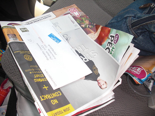 1 lovely letter a bunch of junk mail
