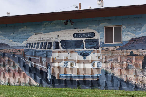 Bus to Tucumcari - Historic Route 66 Art