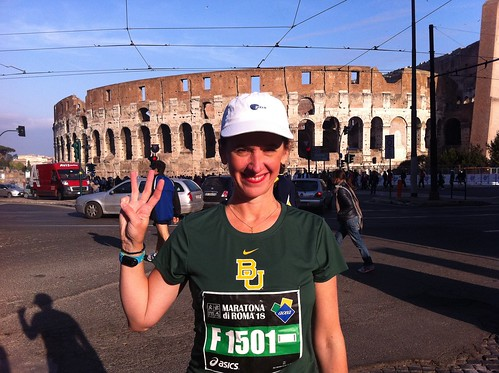 At the start of the Rome marathon