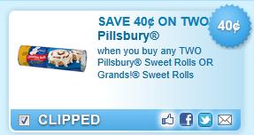 Pillsbury Or Grands! Sweet Rolls Coupon