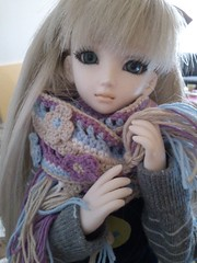Anne with her new scarf